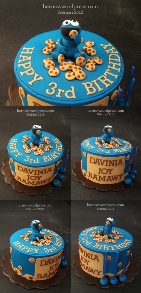 Davinia's COOKIE MONSTER Birthday Cake