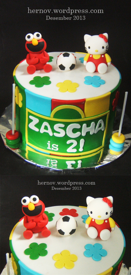 Zascha's HELLO KITTY-ELMO-BALL Birthday Cake