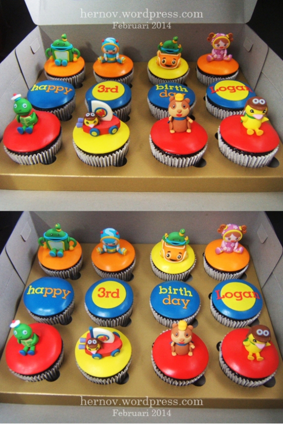 Logan's TEAM UMIZOOMI & WONDER PETS Birthday Cupcakes