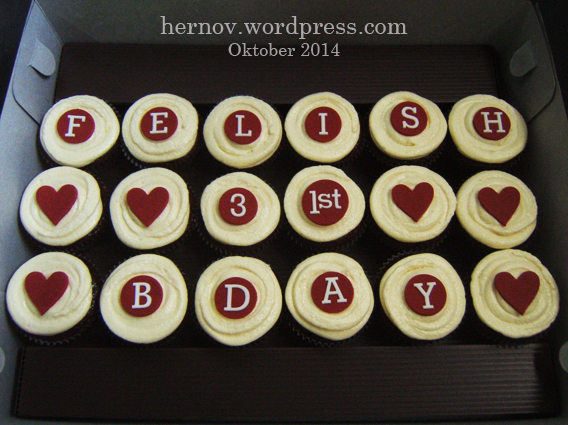 Felish's Birthday Red Velvet Minicupcakes